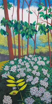 Pastel Landscape Artwork Mountain Laurel Blossoms Mountain South Carolina Michele Fritz